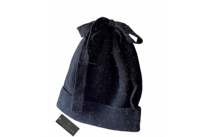 Wool Knitted Beanie Hat with Cute Bow
